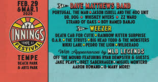 Tempe Innings Festival 2020 lineup: Dave Matthews Band, Weezer headline